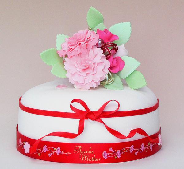 母の日カーネーションケーキ