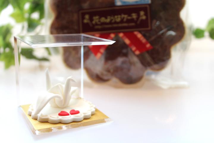 折り鶴のシュガークラフト